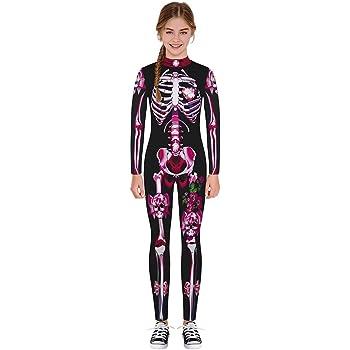 Disfraz Halloween niña 7-14 años, Mono de Manga Larga con ...