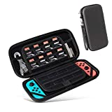 Carrying Case for Nintendo Switch Portable Hard Shell Travel Carrying Case,with 16 Game Cartridges Switch Carrying Case Inner Mesh Pocket for Nintendo Switch Console & Accessories –Black