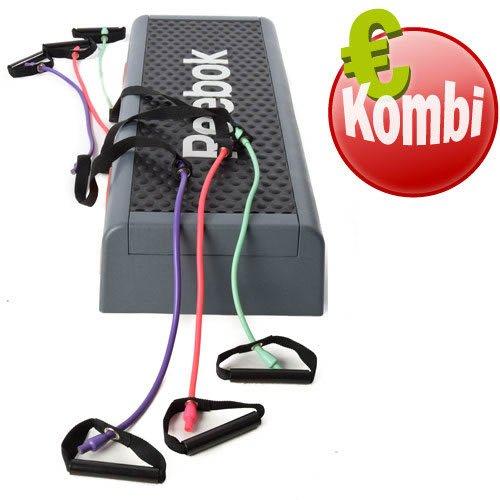 Reebok Step classico con 3 corde elastiche, livello da 1 a 3