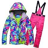 YABAISHI Chaquetas de nieve para mujer, conjuntos de traje de esquí para mujer, ropa de snowboard, deportes al aire libre, pantalones de esquí (color: 4, talla: M)
