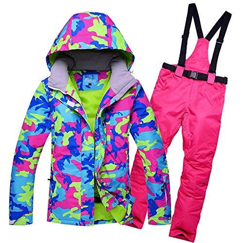 YABAISHI Chaquetas de nieve para mujer, conjuntos de traje de esquí para...