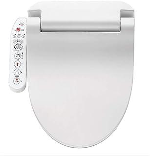 ビデ便座、エンドレス温水、リアとフロントウォッシュ、静粛性、暖かい空気乾燥機および温度制御洗浄機能付き電子温水便座(ホワイト)