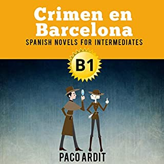 Spanish Novels: Crimen en Barcelona (Short Stories for Intermediates B1) cover art