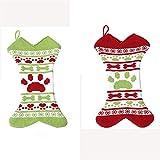 Calcetines de pan de jengibre de Navidad, 17 Pulgadas calcetines for mascotas, de punto, calcetines de Navidad Decoracin, Pez hueso de regalo calcetines, medias de la Navidad Bolsas Chimenea cuelgan