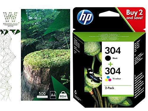 HP 304 - Juego de papel para impresora HP Deskjet 3720 3730 y 100 hojas de recambio