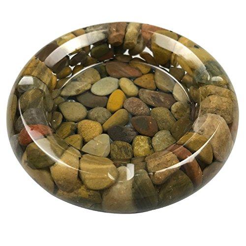 Natural Stone Pebbles Ashtray , 4' Brown Ash Tray