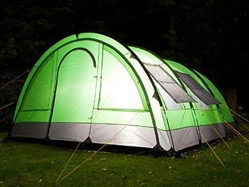 Skandika Helsinki Tente de camping familiale tunnel Vert/Gris 525 x 410 cm