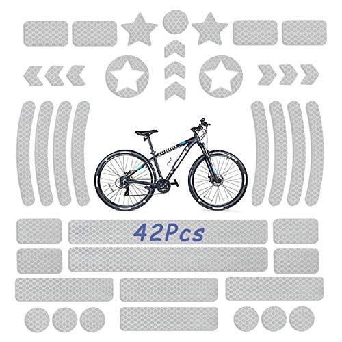 LORESJOY Pegatinas Reflectantes Bici, 42Pcs Impermeable Adhesivos Reflectantes, Seguridad y Alta Visibilidad...