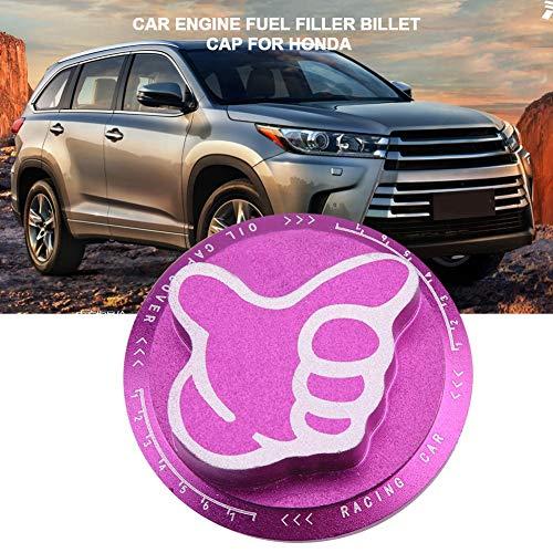 Duokon aluminiumlegering auto tankdeksel brandstoftankdeksel motorolie benzinemotor deksel deurdeksel gas tankdeksel default lila