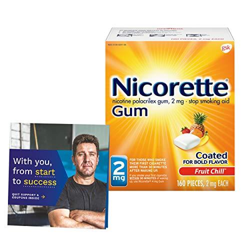 Nicorette Nicotine Gum to Stop Smoking, with Quit...