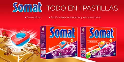Somat Todo En 1 Detergente Pastillas para Lavavajillas Máquina – 52 Lavados