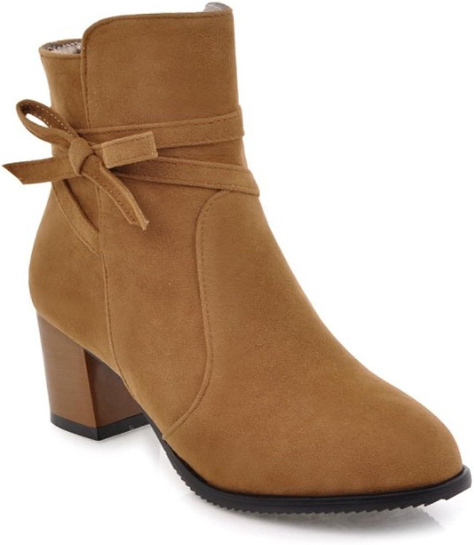Zrf angenehm Rutschfest Herbst und Winter Dicke hochhackige niedrige Stiefel Stiefel Stiefel widerstandsfähig warm (Farbe   Gelb, größe   37)  5c4031