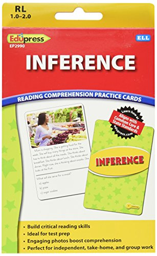Edupress Reading Comprehension Practice Cards, Inference, Yellow Level (EP62990)