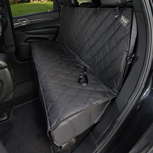 Waglii Non-Slip Waterproof Rear Bench Pet Seat Cover with Hammock Includes Bonus Pet Car Seat Belt