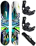 AIRTRACKS SNOWBOARD SET - PLANCHE PLACES WIDE 159 - FIXATIONS MASTER XL - SB BAG