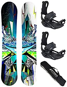 Airtracks Snowboard Set - TAVOLA Places Wide 159 - ATTACCHI Master XL - SB Bag