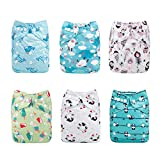 ALVABABY New Printed Design Reuseable Washable Pocket Cloth Diaper 6 Nappies + 12 Inserts 6DM33 cloth diaper inserts Jan, 2021
