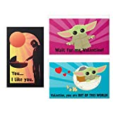 Hallmark Kids Baby Yoda Mini Valentines Day Cards Assortment (12 Cards with Envelopes)