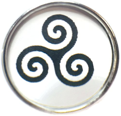 Snap Jewelry Celtic Triskele Symbol for Mind Body Spirit 18MM - 20MM Fashion Snap Charm