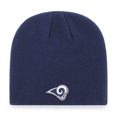 OTS NFL Los Angeles Rams Men's Beanie Knit Cap, Team Color, One Size