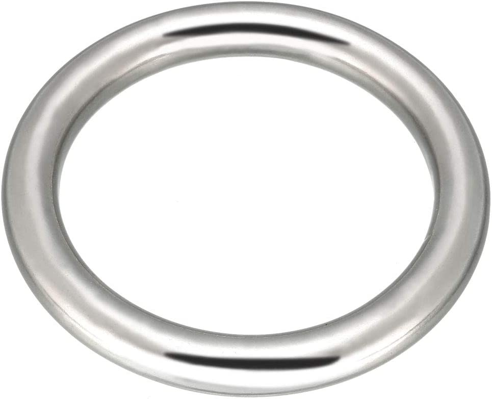 uxcell Multi-Purpose Metal O Ring Buckle Welded 66mm x 50mm x 8m