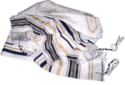 Neuer Bund Gebet Schal, Englisch/Hebräisch und Tasche (Israel) Heiliges Land, schwarz