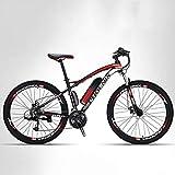 Adulte Montagne Vélo électrique Hommes, 27 Vitesses Hors Route vélo électrique, vélos électriques 250W, 36V Batterie au Lithium, 27,5 Pouces Roues,A,8AH