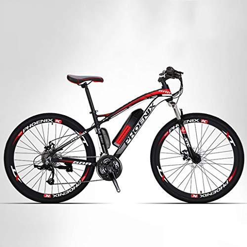 Adulte Montagne Vélo électrique Hommes, 27 Vitesses Hors Route vélo électrique, vélos électriques 250W, 36V Batterie au Lithium, 27,5 Pouces Roues,A,14AH