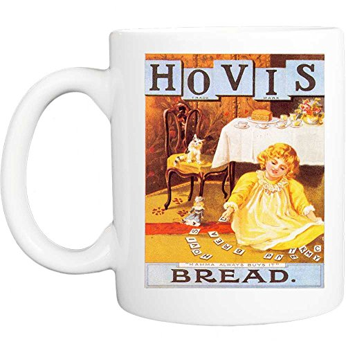 Hovis mamma koopt altijd brood retro shabby chic vintage stijl grappige mok