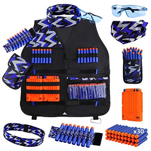 UWANTME Chaleco Táctico Niños para Nerf Pistola N-Strike Elite Series Kit de Chaleco Táctico Juguete