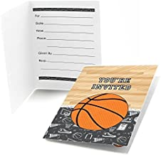 Big Dot of Happiness Nothin' but Net - Basketball - Fill-in Baby Shower or Birthday Party Invitations (8 Count)