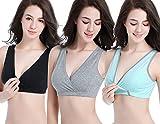 KOOYOL Damen Bio-Baumwolle Schlaf Schwangerschafst Still BHS