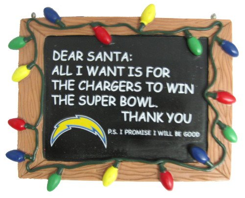 Los Angeles Chargers Resin Chalkboard Sign Ornament