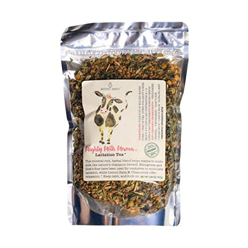 Modest Earth Mighty Milk Mama Tea - Lactation, Postpartum Care & Breastmilk Supply for Nursing Women - Baby & Mother Post-Pregnancy Breastfeeding Support - Fenugreek/Goat Rue Organic Loose Leaf Blend