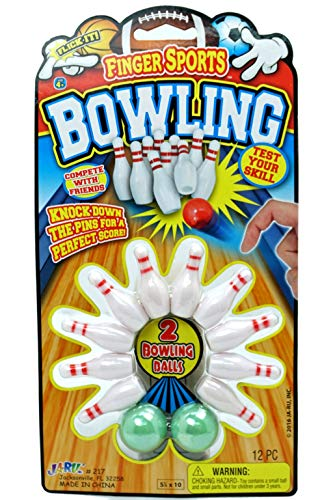 Finger Bowling Game Set (Pack of 1 Set) Miniature Sports Small Bowling Game Pocket Size | Mini Bowling Table Set for Kids | Item #217-1A