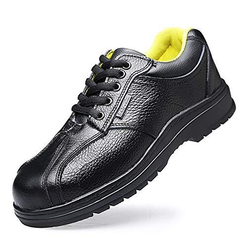 LZLHYH Elektriker Schuhe 6KV Isolierung Gummi rutschfeste Sicherheitsschuhe Atmungsaktiv Anti-Smashing Arbeiter Spezielle Unisex,Schwarz,48