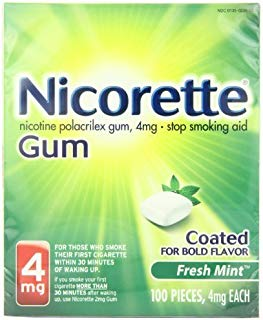 Nicorette Coated Gum 4mg, 100 pieces (Fresh Mint)