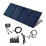ソーラーパネル240W ソーラーチャージャー18v ソーラー ポータブル電源充電器 12V 折りたたみ式 スマホ ノートパソコン 充電可能 +20Aチャージコントローラー +5Mアンダーソン延長コード(ヒューズ付き)
