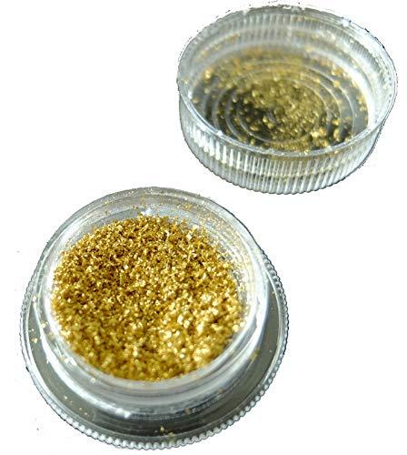 100 mg Goldflocken 23,75 Karat Gold Flakes Echtgold Blattgold Essbar