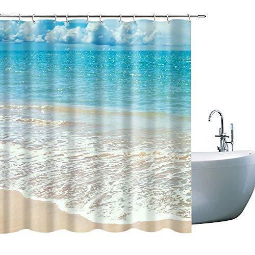 beach scene shower curtain - 5