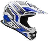 Vega Helmets VRX Advanced Off Road Motocross Dirt Bike Helmet (Blue Venom Graphic, Medium)