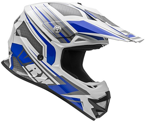 Vega Helmets VRX Advanced Off Road Motocross Dirt Bike Helmet (Blue Venom Graphic, Large)