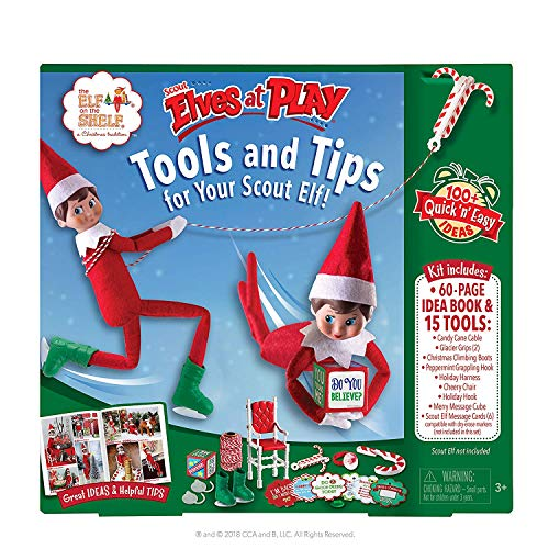 The Elf on the Shelf Scout Elves at Play Kit and Set | Elf on a Shelf Christmas Accessories, Ideas and Props for Kids and Adults