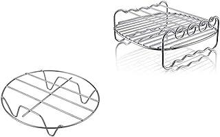 6 inch 5-Set Friggitrice ad Aria Accessori per Gowise Phillips Cozyna Fit 3.7-5.8QT Torta Bauletto Padella Scaffale Tappetino Kit
