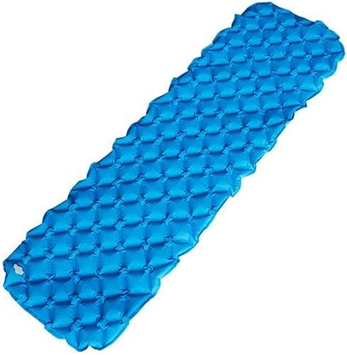 Cvbndfe Tapis de lit Gonflable - Tapis de gonflage Ultra-légers et compacts - Tapis de lit portatif pour la randonnée de Tourisme Confortable léger (Couleur   Bleu, Taille   90  55cm)