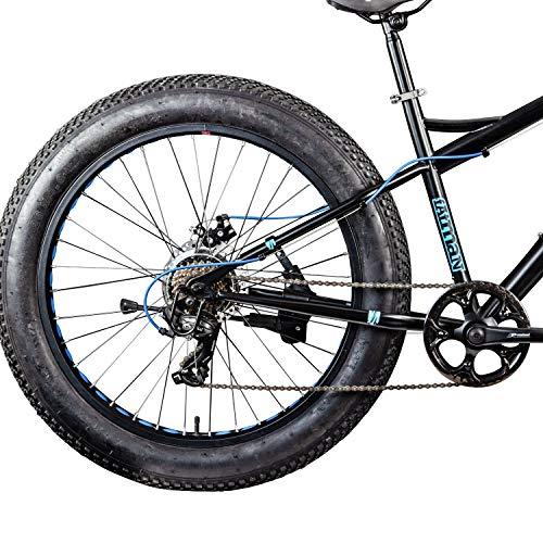 Galano 26 Zoll Fatbike Fatman Mountainbike MTB Hardtail 4.0 fette Reifen Fahrrad (schwarz/blau) - 4