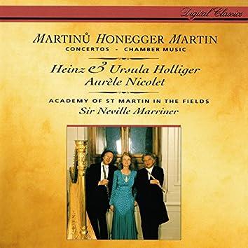 Honegger: Concerto da camera / Martinů: Oboe Concerto / Martin: Trois danses; Petite complainte; Pièce brève
