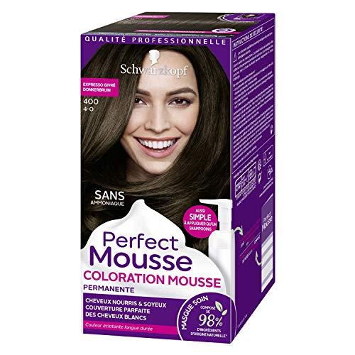 Schwarzkopf - Perfect Mousse - Coloration Cheveux - Mousse Permanente sans Ammoniaque - Expresso Givré 400