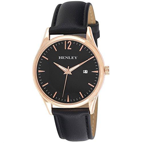 Henley Herren Datum klassisch Quarz Uhr mit PU Armband H02164.34