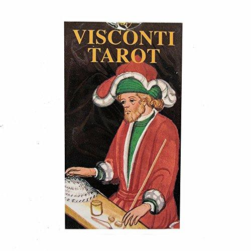 Tarot Visconti Sforza, Mazo de 78 Cartas Tamaño Bolsillo con Instrucciones Multilingües